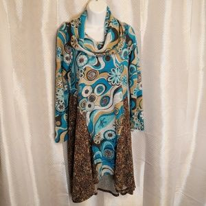 Uncle Frank Cow Neck High Low Dress Size S